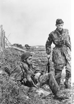 German paratroopers at Nettuno, Italy, Feb 1944