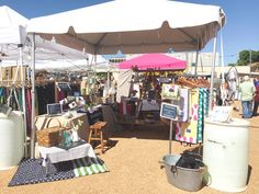 Sparrow Park Goods & Co booth at OKC Industry Flea