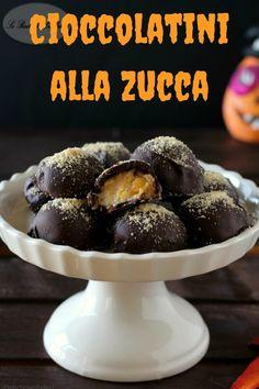 I cioccolatini alla zucca sono dei deliziosi scrigni al cioccolato fondente  che racchiudono al loro interno un ripieno morbido 401dceaaaa8c