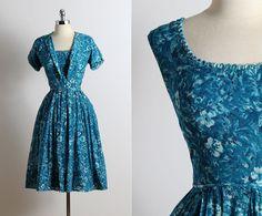 Vintage 50er Jahre Kleid Kleid Vintage von millstreetvintage