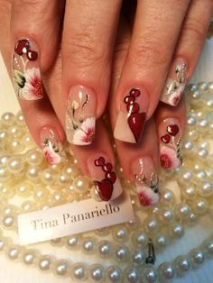 Valentine's Day is almost upon us and what would a holiday be without nails from our award winning artist and friend, Tina Panareillo. Designs a plenty over the New York. Thanks Tina, it is always a pleasure to post your work!!