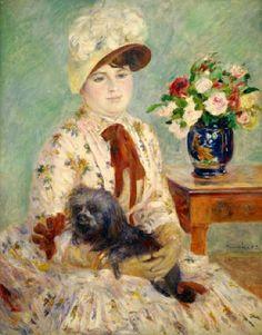madame Charlotte Gerthier  par Pierre Auguste  Renoir