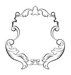 Baroque architectural ornamental decorative frame vector