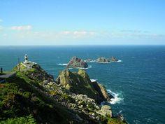 Cabo y faro de Ortegal.  Cap and lighthouse Ortegal.  A Coruña, Galicia, Spain.