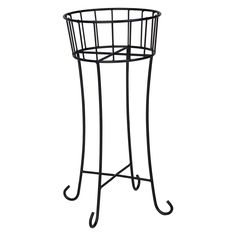 Have to have it. Woodard Wrought Iron 29.75 in. Round Plant Stand - $136.5 @hayneedle