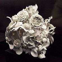"""Porcelain nosegay of flowers from the Buen Retiro. The term nosegay arose in fifteenth-century Middle English as a combination of nose and gay (the latter then meaning """"ornament""""). So a nosegay was an ornament that appeals to the nose or nostril."""