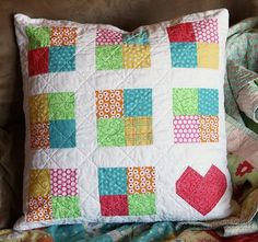 Gale - pretty quilt pillow: