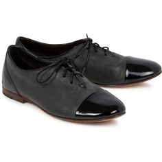 rag and bone Leather Oxford Shoes ($355) ❤ liked on Polyvore featuring shoes, oxfords, flats, black, leather shoes, black leather oxfords, flat shoes, leather oxford shoes and black lace up flats