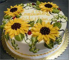 Sunflower Birthday Cake Cake idea for Moms Birthday Pinterest