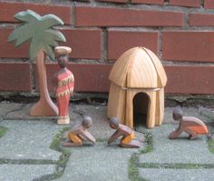 Original OSTHEIMER wooden figures marked. by ideenreichBerlin