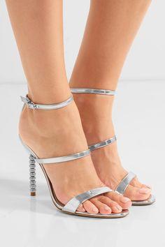 Sophia Webster | Rosalind crystal-embellished metallic leather sandals | NET-A-PORTER.COM