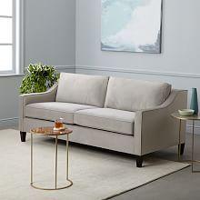 """Paidge Sofa (72.5""""), perf velvet, dove gray"""