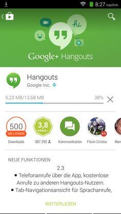 Hangouts verlangt Aktualisierung