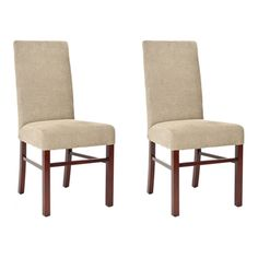 @Overstock - These elegant Classical Parsons chairs are designed with a high seat back. These chairs feature a sturdy maple finished hardwood frame with a sage cotton upholstery.http://www.overstock.com/Home-Garden/Classical-Parsons-Sage-Cotton-Side-Chairs-Pack-of-2/5721308/product.html?CID=214117 $251.99