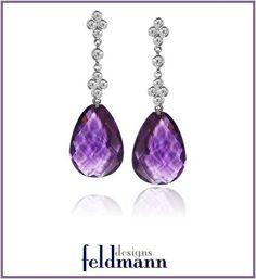 Amethyst and Diamond Briolette Dangle Earrings, $2,500