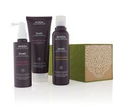 For Her: Give the gift of thicker, fuller hair with an Invati gift set. @Aveda