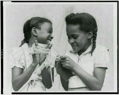 Little girls in Harlem 1950's