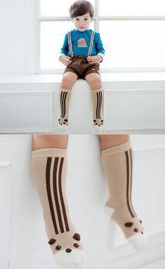e0cecd89c VWU 6 Pack Baby Cute Animal Over The Calf Socks Toddler Anti Slip Cotton  Socks 02
