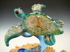 Hey, I found this really awesome Etsy listing at https://www.etsy.com/listing/177711695/art-glass-sea-turtle-sculpture