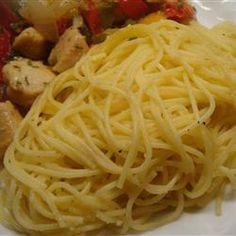 Pasta and Garlic Allrecipes.com, a great side dish!