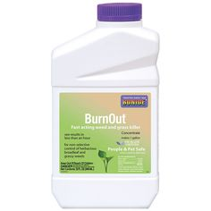 Burnout Weed & Grass Killer Concentrate 32 oz   eartheasy.com  Burnout Weed & Grass Killer Concentrate is a safe, non-toxic solution for killing weeds that works faster than most chemical herbicides.  Use Burnout to kill all types of weeds and grasses, including: Dandelion, Chickweed, Black Medic, Pigweed, Algae, Moss, Foxtail, Ivy Leaf, Morning Glory, Poison Hemlock, Milkweed, Liverwort, Ragweed, Clover, Sicklepod, Crabgrass, Quackgrass, Bluegrass, and more!