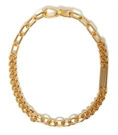 Fall Jewelry Guide at #ShopBAZAAR: Gold Chain Necklaces –  Salvatore Ferragamo Chunky Gold Chain Choker