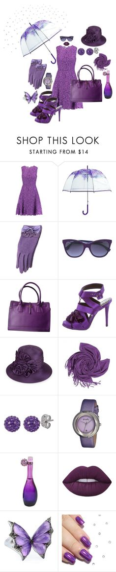 """Purple Rain"" by unusualengagementringsreview ❤ liked on Polyvore featuring Oscar de la Renta, Vera Bradley, Fendi, Salvatore Ferragamo, Roger Vivier, Giovannio, Tresor Paris, Simplify, Jennifer Lopez and Lime Crime"
