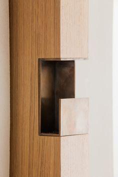 Door detail I Carine Roitfeld's Bathroom by David Chipperfield