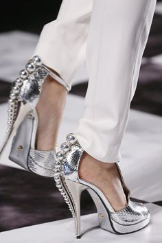 Easy DIY: How To Make Silver Bauble Heels Inspired By The Runway with @p.S.- I made this...