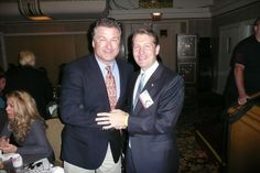With Alec Baldwin at the Peabody Awards in New York.