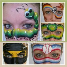 Boy face painting designs