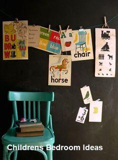 Vintage School Posters on pegs Childrens Room Decor, Kids Decor, Decor Ideas, Vintage School, Kids Room Design, Kids Corner, Little Girl Rooms, Vintage Prints, Vintage Style