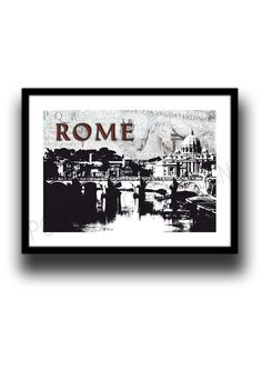 Rome cityscape Italy Art print  poster by melOnDesign on Etsy