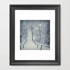 snow slide Framed Art Print by Dirk Wuestenhagen Imagery - $36.00
