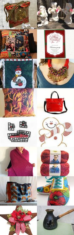 ***Red Christmas*** by Vilma Matuleviciene on Etsy--Pinned with TreasuryPin.com