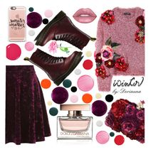 """""""Floral Sweather"""" by deriaunayoung ❤ liked on Polyvore featuring Clinique, Dolce&Gabbana, Dr. Martens, Topshop, Alexander McQueen, Casetify, Manic Panic NYC, Nails Inc., Deborah Lippmann and RGB Cosmetics"""