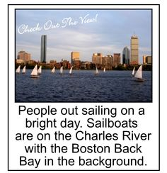 What a view - people sailing on the Charles River with my Boston Back Bay shown in the background. This is life! This is something beautiful. #boston_back_bay_#sailboats_charles_river, #photo_sailing_charles_river,
