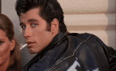 And yes, I wanted to be a T-Bird. John Travolta as Danny Zuko in Grease. Danny Zuko, Grease 1978, Grease Movie, Olivia Newton John, Grease Is The Word, Musica Disco, James Dean, Film Serie, Retro Vintage