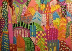 "Saatchi Art Artist: Gregg Allan McGivern; Oil 2014 Painting ""GESCHMOLZEN CITYSCAPE"""