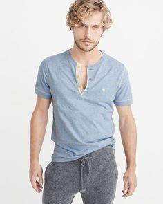 A&F Men's Garment Dye Icon Henley