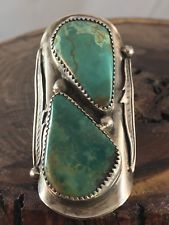NAVAJO ~HUGE ~ ROYSTON TURQUOISE ~STERLING~ SIGNED ~RING in Jewelry & Watches, Ethnic, Regional & Tribal, Native American, Rings | eBay