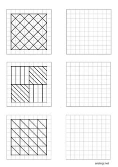 Graph Paper Drawings, Graph Paper Art, Easy Drawings, Doodle Art Designs, Doodle Patterns, Zentangle Patterns, Fairy Wings Drawing, Visual Perception Activities, Free Printable Puzzles