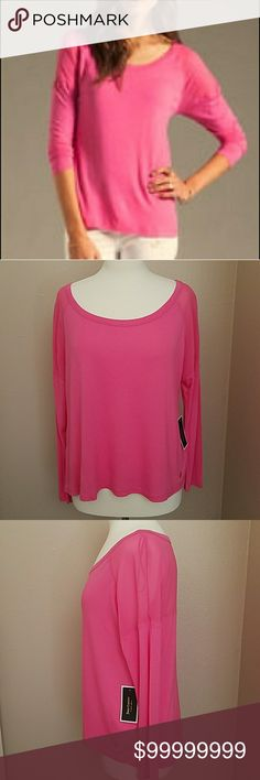 NEW💝JUICY COUTURE HIGHLIGHTER TEE JUICY COUTURE~ Highlighter Square Tee with Yoke in bright, beautiful pink! 💗  Lightweight, longsleeves, sheer upper arm and back yoke detail and the iconic 'JC' logo on the bottom left. 😍  100% viscose.  Perfect comfort and style for the Spring season ahead.🏵  L-O-V-E❣ JUICY COUTURE  Tops Tees - Long Sleeve