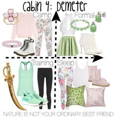 Cabin 4: Demeter by aquatic-angel on Polyvore featuring polyvore, fashion, style, Simone Rocha, Frame Denim, MANGO, Under Armour, Ivy Park, Dolce&Gabbana and NIKE