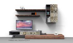 Σύνθεση τοίχου έπιπλο τηλεόρασης MARINE-WALL-DESIGN-F53-A-4