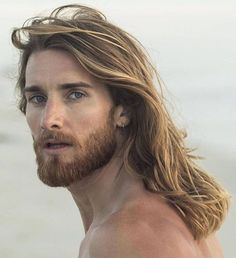 Best Hair Replacement Systems, Toupee, Hair piece for Men - HairBro Hair Men Style, Hair And Beard Styles, Long Hair Styles, Long Hair Beard, Men Long Hair, Facial Hair, Haircuts For Men, Bearded Men, Gorgeous Men