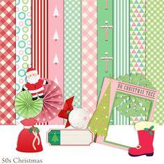 Scrapbook de Navidad Retro, años 50 50 Kit de Scrapbook, instante de scrapbook, Scrapbooking Kit, descargar  Esto se puede utilizar para uso Personal o chatarra para contratar solamente,,  NO PARA USO COMERCIAL Adornos de Navidad •44 retro de los años 1950 •10 12 x 12 casa de artículos de Navidad  Scrapbook Kit términos Mi scrapbook Kits son para uso Personal solamente, Usted puede utilizar para hacer chatarra 4 alquiler Usted puede utilizar en el aula, Hacer fiesta o decoraciones para el…