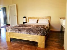 classic style Queen bed with headboard in Teak finish @ R4390 from Eco furniture design. Affordable & Top quality furniture manufacturer South Africa. Standard and custom requests welcome