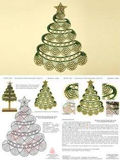 Risultati immagini per bobbin lace christmas images Crochet Snowflake Pattern, Crochet Leaves, Crochet Snowflakes, Thread Crochet, Crochet Doilies, Crochet Christmas Trees, Christmas Crochet Patterns, Christmas Crafts, Christmas Images