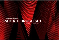 Radiate Brush Set was created by running random geometric shapes through the same sequence of Photoshop actions, each time creating something unique, yet slightly similar.Radiate Brush Set by DesignerC… Brosses Photoshop, Texture Photoshop, Photoshop Brushes, Lightroom, Watercolor Splatter, Ink Splatter, Photo Brush, Acrylic Paint Brushes, Free Hand Drawing